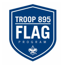 Troop 895 Curbside Flag Service logo